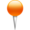 Orange, Pin Icon