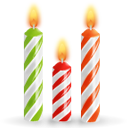 Birthday, Candles Icon