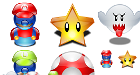 Super Mario Lumina Icons