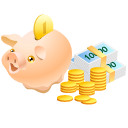 Bank, Cash, Coins, Money, Pig, Piggy, Safe Icon