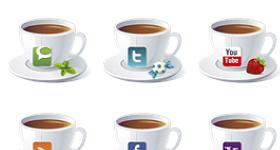 Social Teacups Icons