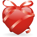 Heart, Ribbon Icon