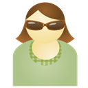 Green, Sunglass, Woman Icon