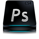 Adobe, Black, Cs, Photoshop Icon