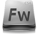 Adobe, Cs, Fireworks, Gray Icon