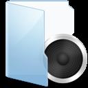 Audio, Blue Icon
