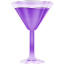 Purple, Wineglass Icon