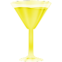 Wineglass, Yellow Icon