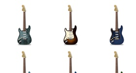 Stratocaster Guitars Icons