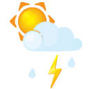 Flash, Littlecloud, Rain, Sun Icon