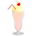 Milkshake, Strawberry Icon