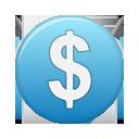 Blue, Currency, Dollar Icon