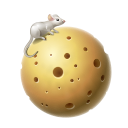 Cheese, Moon, Planet Icon