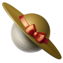 Hat, Planet, Saturn Icon