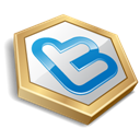 Gold, Shape, Twitter Icon