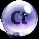 Adobe, Contribute, Glass Icon