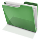 Full, Green, Tfolder Icon