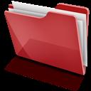 Full, Red, Tfolder Icon