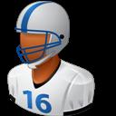 Dark, Footballplayer, Male Icon