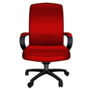 Chair, Office, Red Icon