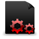 Black, Dll, File, Red Icon