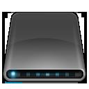 Black, Disk, Drive, External, Modem Icon