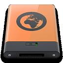 b, Orange, Server Icon