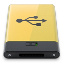 Usb, Yellow Icon