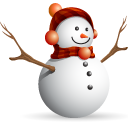 Christmas, Man, Snow Icon