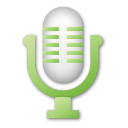 Green, Microphone Icon