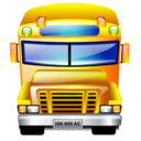 Bus, School, Service, Transportation Icon