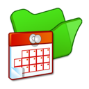 Folder, Green, Scheduled, Tasks Icon