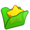 Favourite, Folder, Green Icon