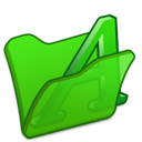 Folder, Font, Green Icon