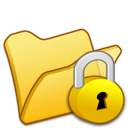 Folder, Locked, Yellow Icon