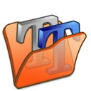 Folder, Font, Orange Icon