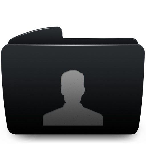 Black, Folder, User Icon
