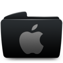 Apple, Black, Folder Icon