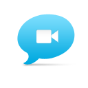 Chat, Video Icon
