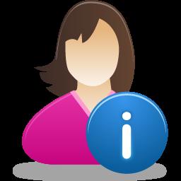 Female, Info, User Icon