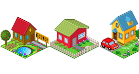 Pixel House Icons