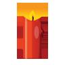 Candle, Christmas, Icon Icon