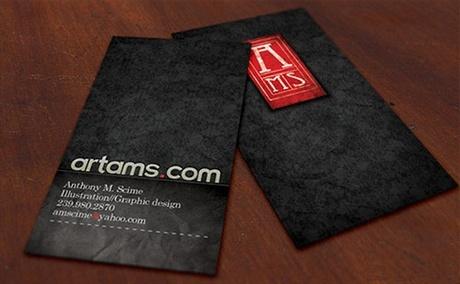 black,fancy business card