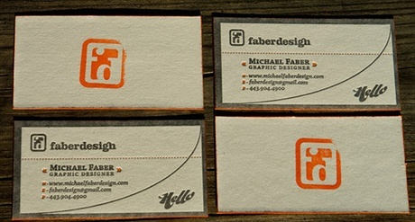 letterpress,rubber stamp business card