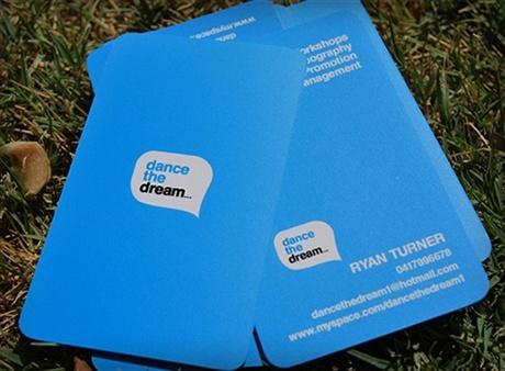 contrast color,round corner business card