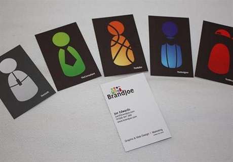 multi color business card