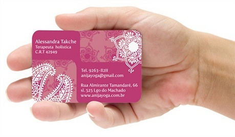 fancy,2 color,round corner business card