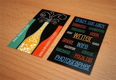creative,fancy,multi color business card