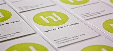 2 color,letterpress business card