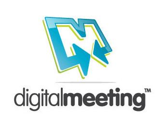 3d,arrow,digital,conference,meeting logo